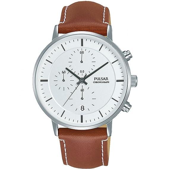 Pulsar Hombre Reloj de Pulsera analógico Cuarzo Piel pm3077 X 1: Amazon.es: Relojes