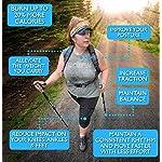 Foxelli Aluminum Trekking Poles – Collapsible, Lightweight, Aluminum 7075 Hiking, Walking & Running Sticks with Natural Cork Grips, Quick Locks, 4 Season/All Terrain Accessories and Carry Bag