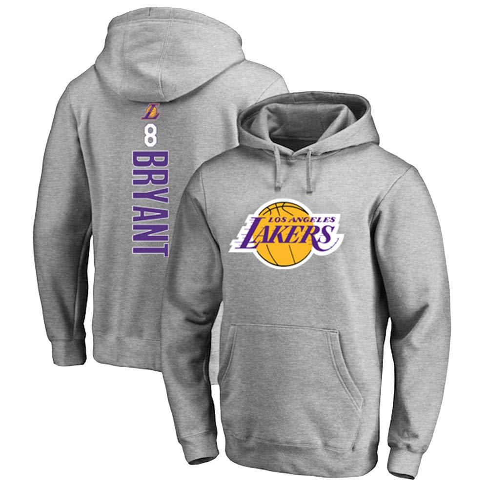 Hanbao NBA Lakers 8# Kobe Bryant Felpa con Cappuccio Giovent/ù Uomo Name /& Number Magliette Sportive da Basket Moda Felpa
