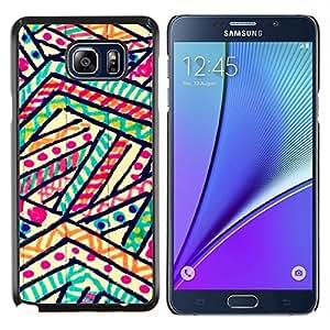 Planetar® ( Polígono líneas modelo rayas Marker ) Samsung Galaxy Note 5 5th N9200 Fundas Cover Cubre Hard Case Cover