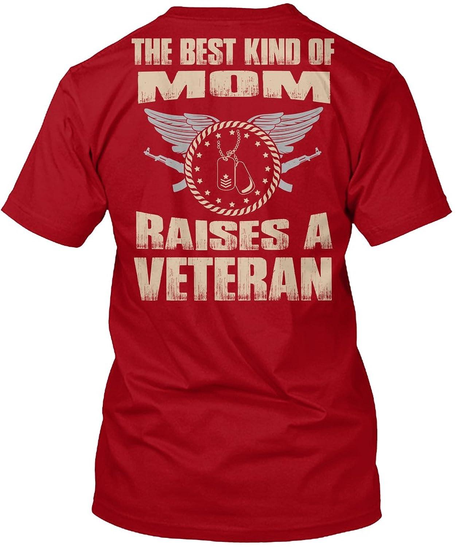 Teespring Unisex Teespring Unisex The Best Kind Of Mom Raises A Veteran Gildan 8oz Heavy Blend Hoodie Hanes Tagless T-Shirt