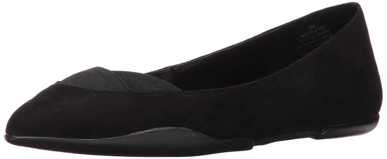 Nine West Women's Yvette Suede Ballet Flat B01FEP0URS 5.5 B(M) US|Black