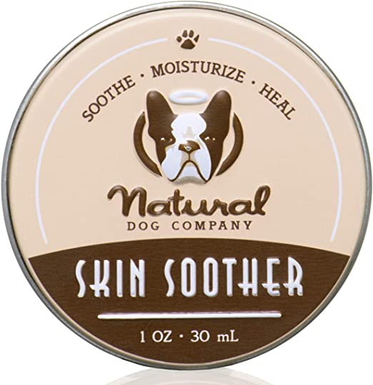 Natural Dog Company Skin Soother, All Natural Healing Balm for Dogs, Relieves Dry, Itchy Skin, Treats Skin Irritations, Wounds, Hot Spots, Dermatitis