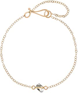 product image for Melissa Joy Manning 14k Gold Herkimer Wrap-Setting Bracelet