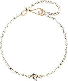 product image for Melissa Joy Manning 14k Gold Herkimer Wrap-Setting Bracelet