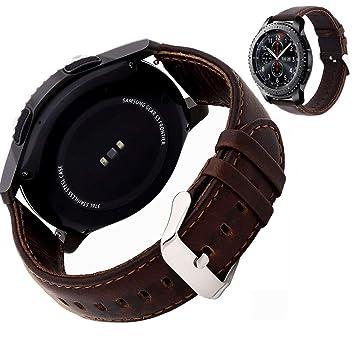 Miimall - Correa de Piel para Reloj Samsung Gear S3 Frontier ...