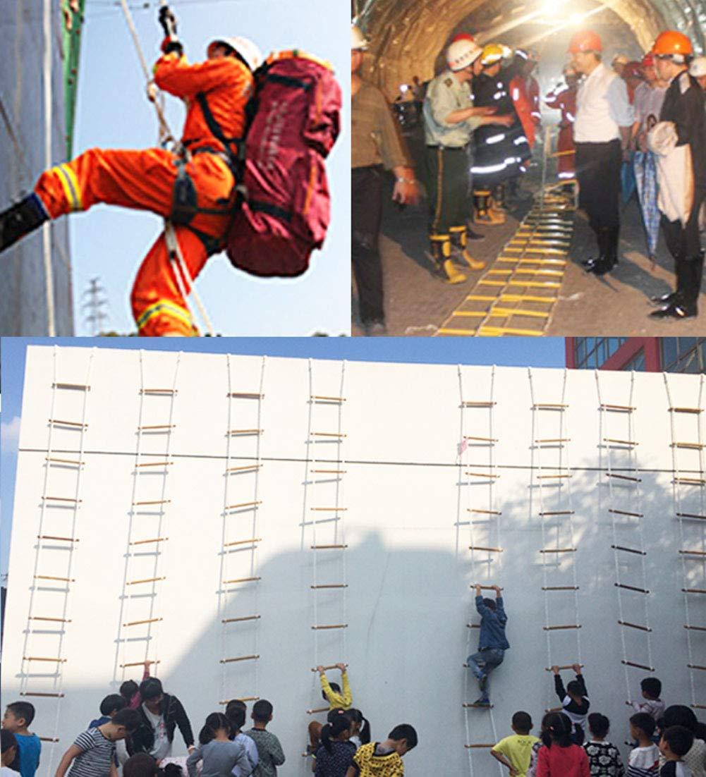 HANG Escalera de Rescate Escalera de Madera Escalera Blanda Escape contra Incendios Escalera de Seguridad Cuerda de Emergencia Respuesta de Seguridad en el Trabajo Auto-Rescate Escape