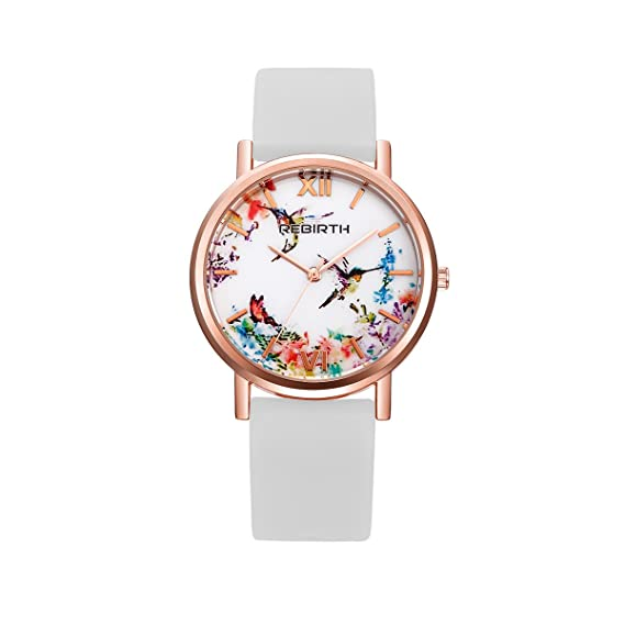 longqi reloj mujer reloj de cuarzo dial de estampado vintage números romanos reloj con correa de
