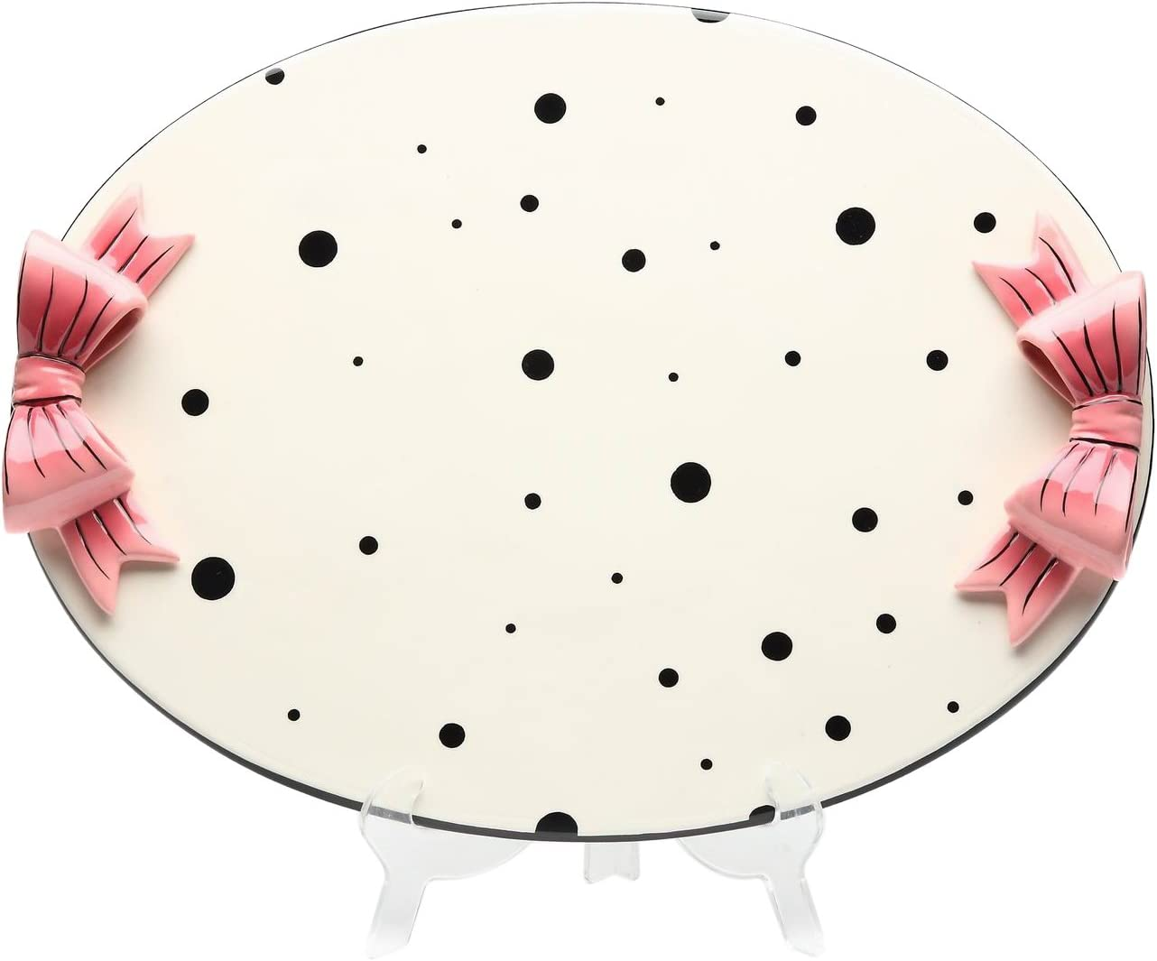 Appletree Design Dilly Dots Serving Tray, 13-5/8-Inch Long