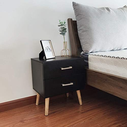 GDLMA Wooden Night Stand End Table