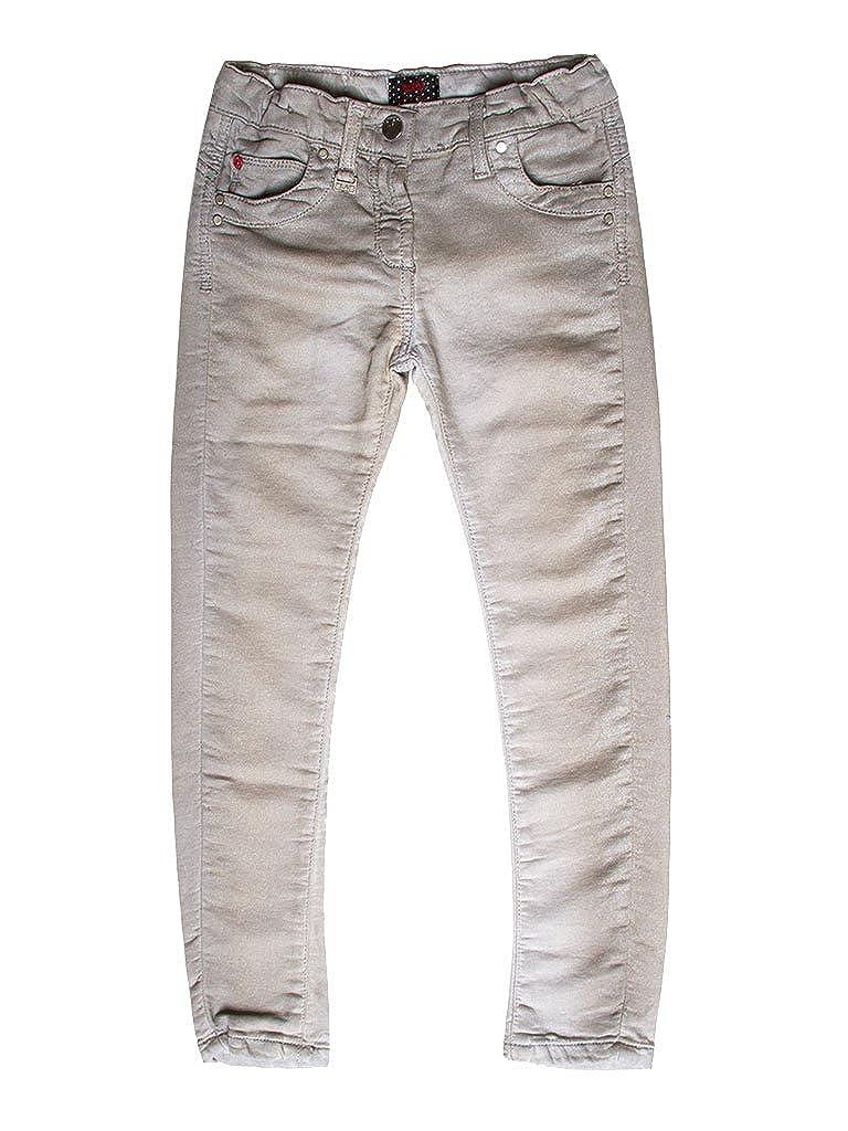 808 - gris Clair 11-12 ans (hauteur  152 cm) voiturerera Jeans - Jogger Jeans 788 pour Fille, Style Droit, Couleur Unie, Doubleure Polaire, Taille Skinny, Taille Normale