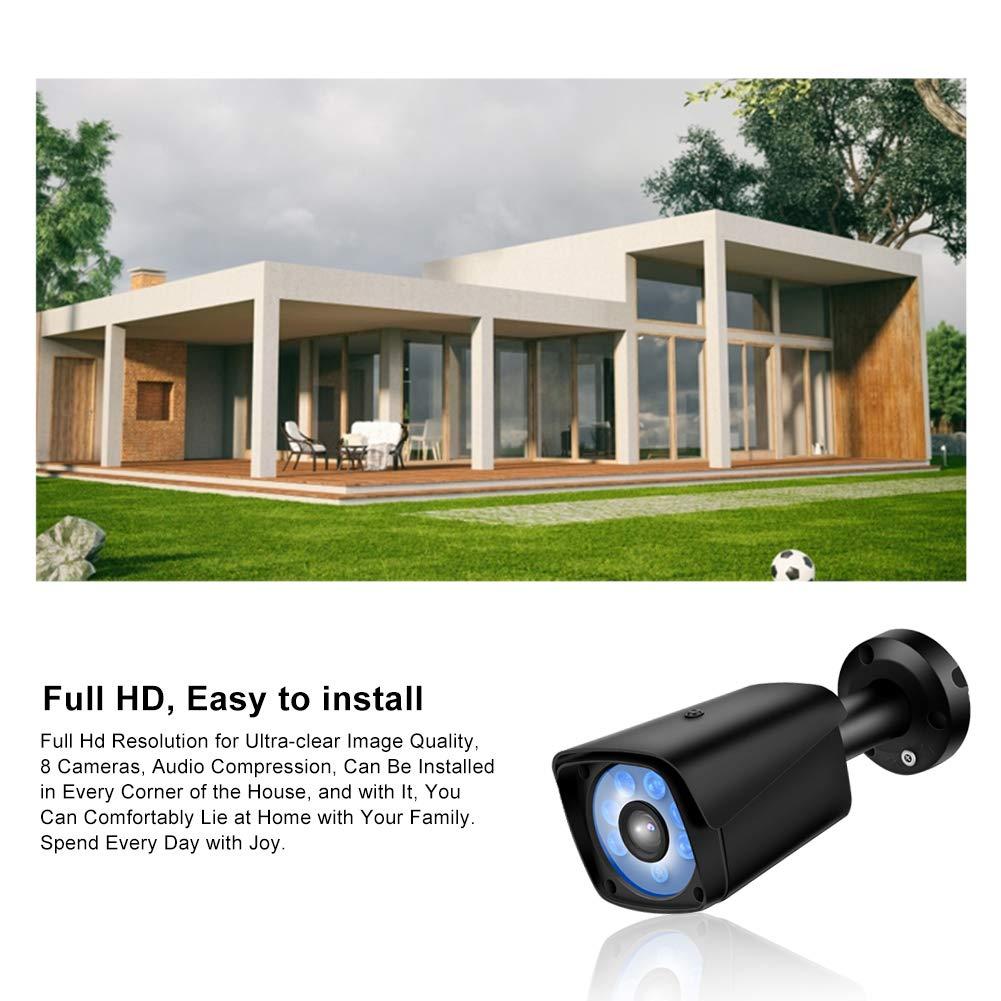 8 CH AHD DVR /Überwachungssystem Outdoor Sicherheitskamera mit IR-Cut Nachtsicht Wasserdicht Bewegungserkennung mit 8 Full HD 2.0 Megapixel Drahtlos /Überwachungskamera Set