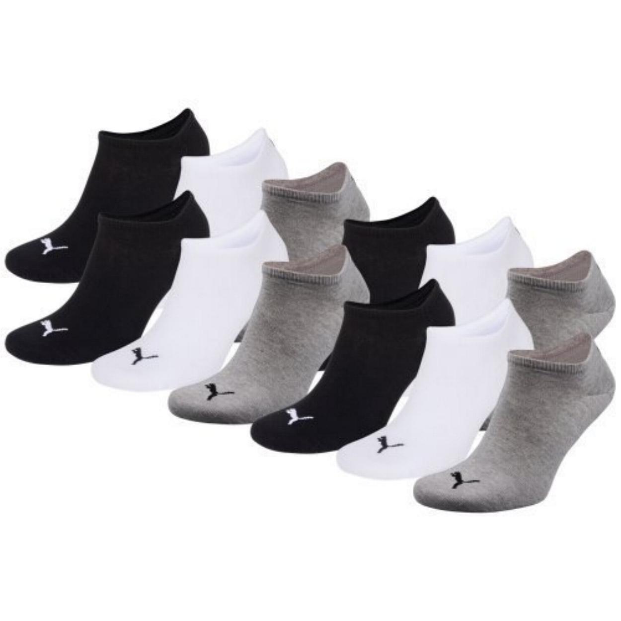 Puma Unisex Sneakers Sport Calzini, 6 paia di calzini Grey/White/Black (882) 39 6paia di calzini Grey/White/Black (882) 39