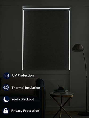 Persilux Cordless Window Blinds Blackout Roller Shade