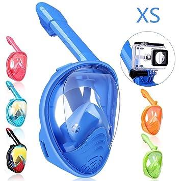 QingSong Máscara de Snorkel Cara Completa Plegable máscara de ...