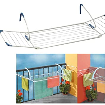 Pratiko 837 Etendoir A Linge De Balcon Extensible Amazon Fr