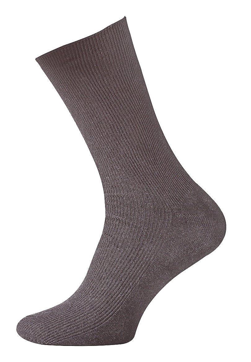 pack de 8 Calcetines lisos sin goma o elástico algodón para hombre. Calcetines diabéticos. 43/46: Amazon.es: Ropa y accesorios
