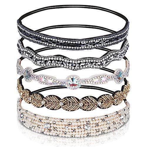 Teenitor Rhinestone Beaded Headbands Jeweled product image
