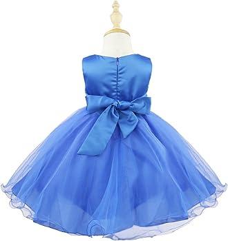 iiniim Vestido Niña Princesa Elegante sin Mangas Boda Fiesta Bautizo Chica Vestido Infantil Brillante Lentejuelas Flor Brillante Ceremonia Dama de ...