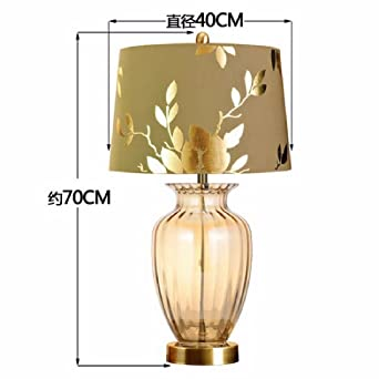 SDKKY Lámparas de mesa Europea, lámparas de noche de dormitorio ...