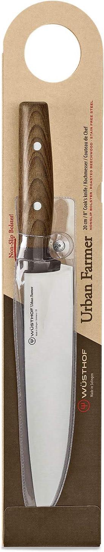 Wüsthof Kochmesser, Urban Farmer (348120), 20 cm Klinge, Holzgriff aus Buche, rostfreier Edelstahl, sehr scharf, top Messer für Stadtgärtner