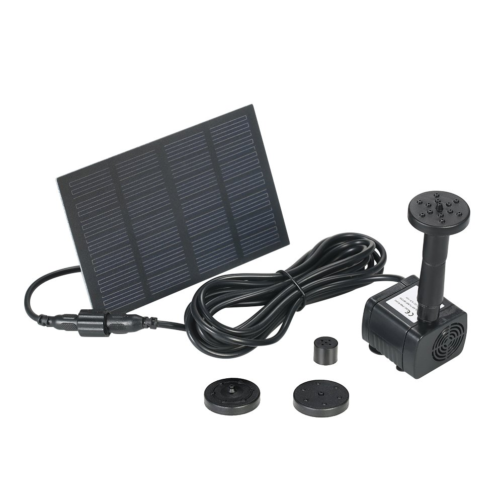 Decdeal Solar Brushless Pump For Water Cycle/Pond Fountain Anself