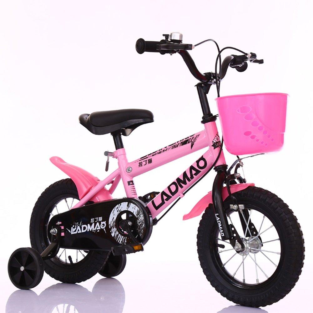 【おまけ付】 CHS@ 子供用自転車2-5-6-8-14歳の男の子と女の子の乳母車12-14-16-18インチトレーニングホイール付きの自転車 子ども用自転車 (色 (色 : Pink, 16\ サイズ CHS@ さいず : 16