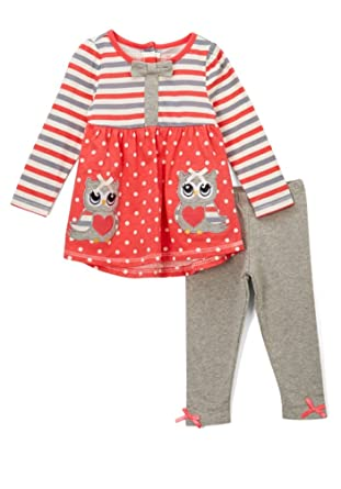 c1f5d0486ad6 Image Unavailable. Image not available for. Color: Nannette Girls 2 Piece  Outfit - Tunic and Leggings (5 ...