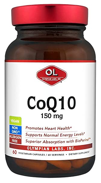 Amazon.com: Olympian Labs Coq, 150 mg, 60 Cápsulas (embalaje ...
