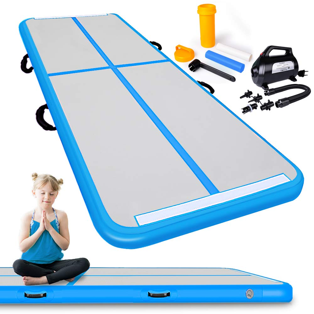 M Air Track Inflatable Tumbling Mat For Exercise Home Outdoor Training Blue 3