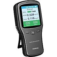 Igeress moniteur de qualité de l'air Intérieur formaldéhyde (Hcho) Détecteur de Pm2.5/PM10/Tvoc testeur de tests précis avec affichage de l'heure pour la maison de voiture en plein air détecter