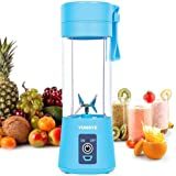Personal Blender, YUNSYE Portable Juicer Cup/Electric Fruit Mixer/USB Juice Blender, Rechargeable, Six Blades in 3D for…