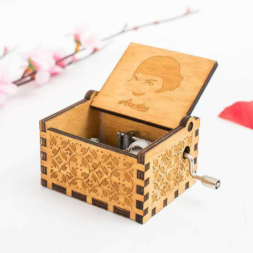 Pongaps Wooden Hand Crank Harry Potter Music Box Classic Vitrage Wood Hand Music Box Theme Music Box Best Gift for Kids,Friend Music Boxes