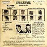 John Dillinger Wanted Poster Photo American Gangsters Historical Posters Photos 12x12