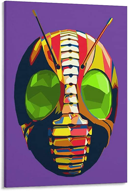 SHICAI Kamen Rider J Japanese Anime Cartoon Posters TV Posters Movie Poster 1 Poster Decorative Painting Canvas Wall Art Living Room Posters Bedroom Painting 12×18inch(30×45cm)