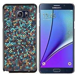 KLONGSHOP // Cubierta de piel con cierre a presión Shell trasero duro de goma Protección Caso - azul bronce dorado limpio increíble - Samsung Galaxy Note 5 5th N9200 //