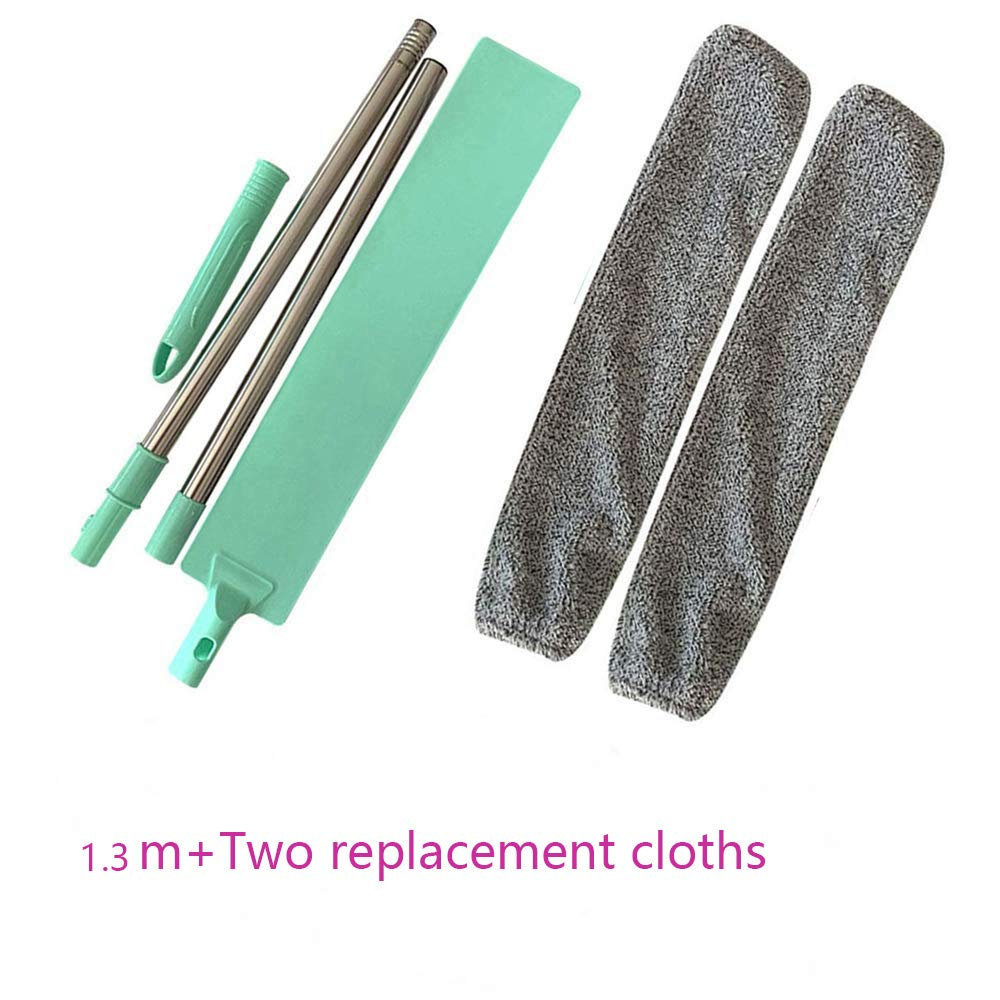 1.3m bedside dust brush long handle mop Extendable Duster for Cleaning Household Bed Bottom Gap,Microfiber Duster with Bendable Head