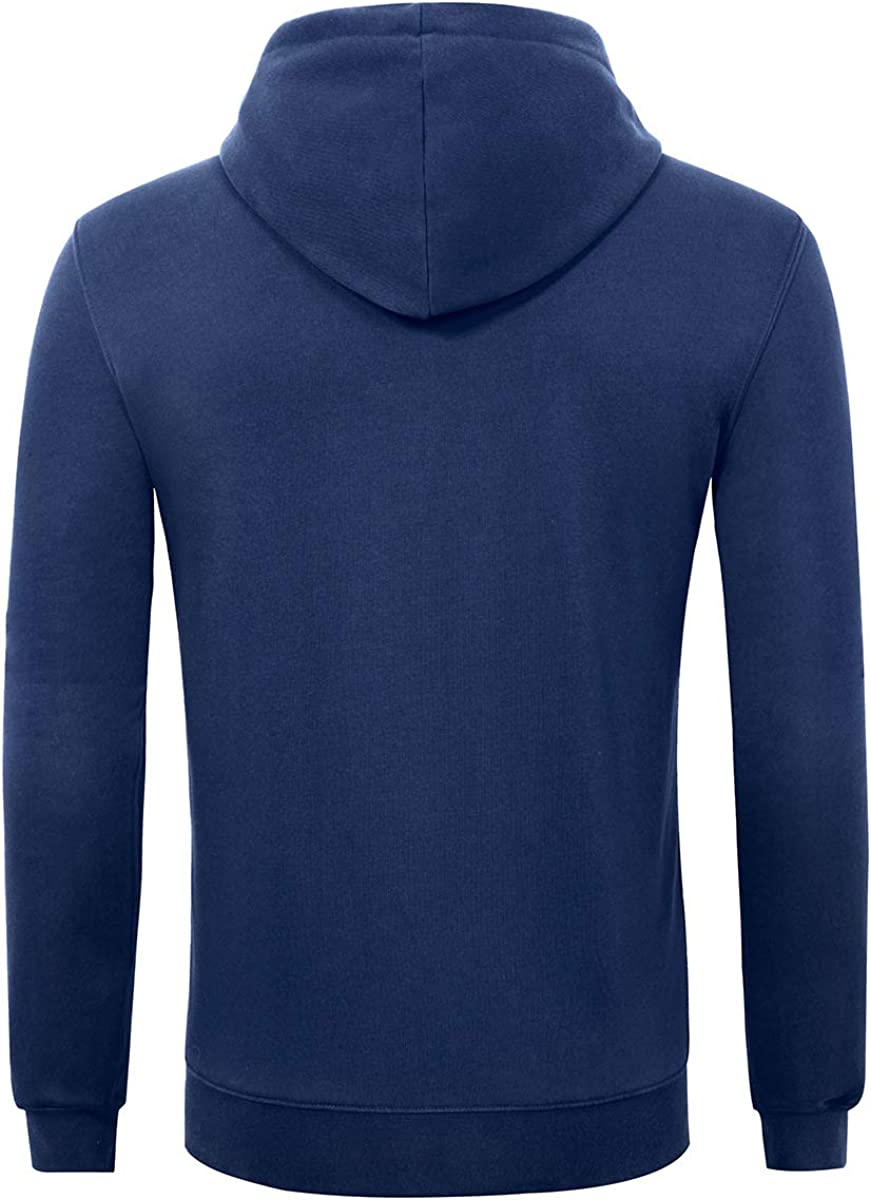 aoli ray Mens Sweatshirt with Zipper Hood Jacket Coat Fashion Plain