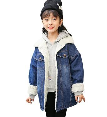 893ac23d6144 Amazon.com  Tortor 1Bacha Kid Girls  Fashion Sherpa Lined Denim ...