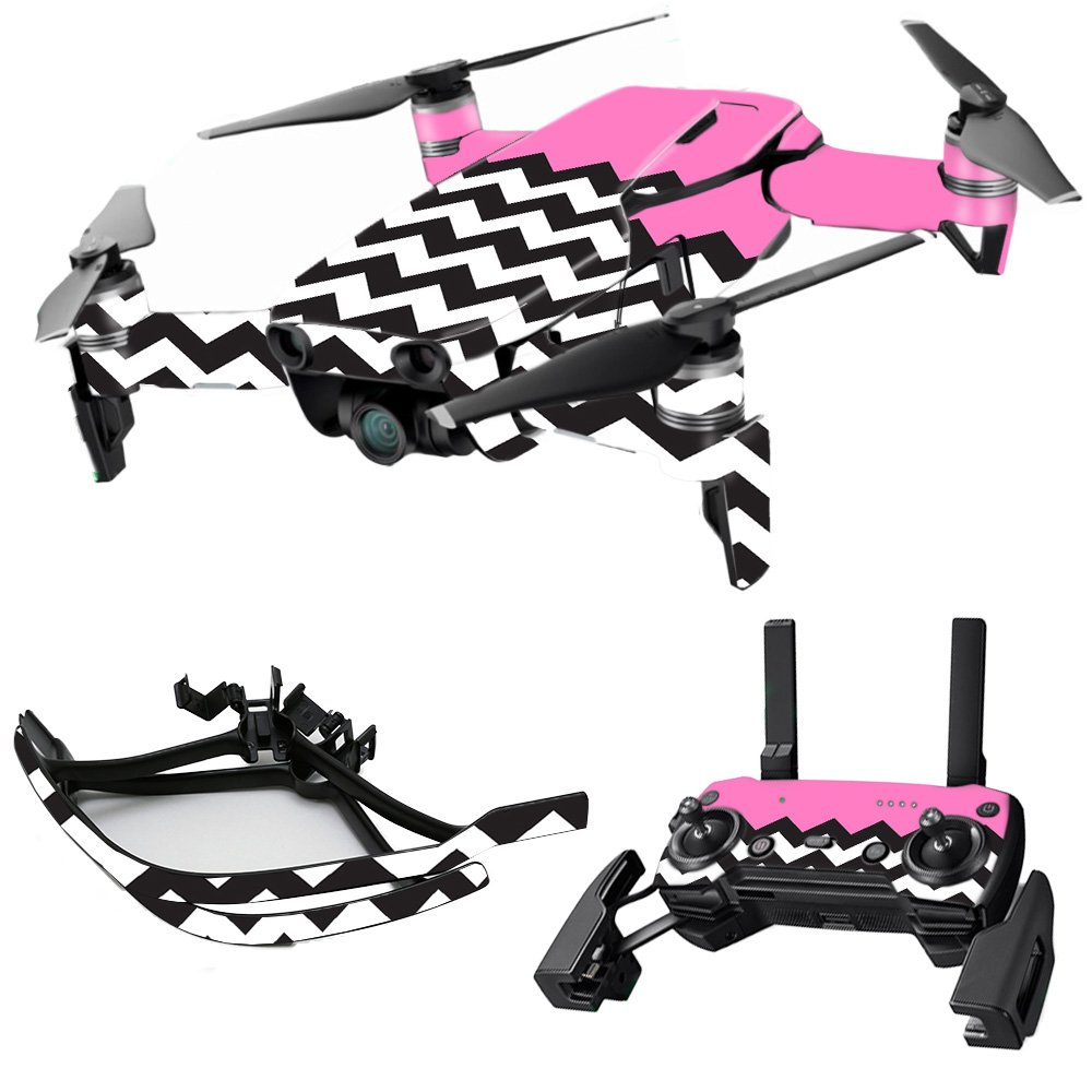 MightySkins スキンデカールラップ DJIステッカー保護カバー 100種類のカラーオプションに対応, DJI Mavic 2 Pro or Zoom, DJMAVPR18-Lime Chevron B07B3XGWD7 DJI Max Coverage|Pink Chevron Pink Chevron DJI Max Coverage