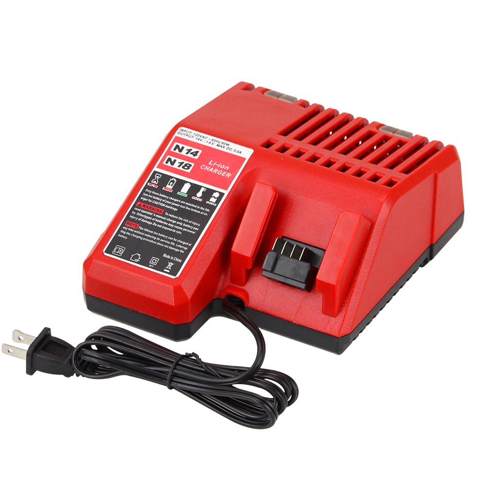 Topbatt Replacement Battery Charger for Milwaukee M18 and Makita 18V Battery