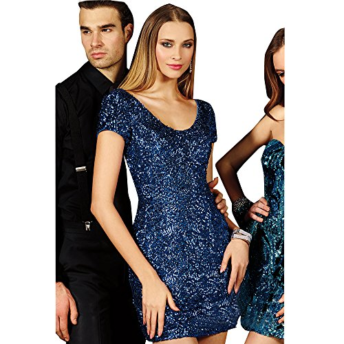 Alyce Paris Sequin Cocktail Dress Sapphire – 4