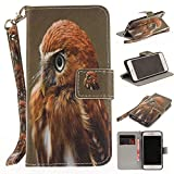 Misteem Case for iPhone 7 8 Animal, Cartoon Anime Comic Leather Case Wallet with Bookstyle Magnetic Closure Card Slot Holder Flip Cover Shockproof Slim Creative Pattern Shell Protective Cover for Apple iPhone 8 / 7 4.7 inch [Eagle]