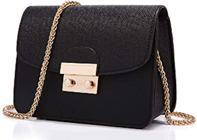 0032ab26927f AIK Small Evening Bags for Women Crossbody Bag Chain Shoulder Clutch Purse  Formal Bag (Black