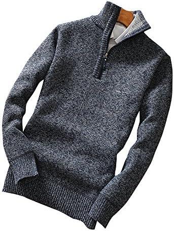 セーター メンズ ジップ ニット ケーブル編み ビジネス ゆったり ざっくり あったかい 正規品 cmw24217
