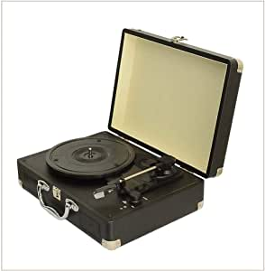 W.Z.H.H.H Manualidades Negro gramófono del Tocadiscos portátil de ...