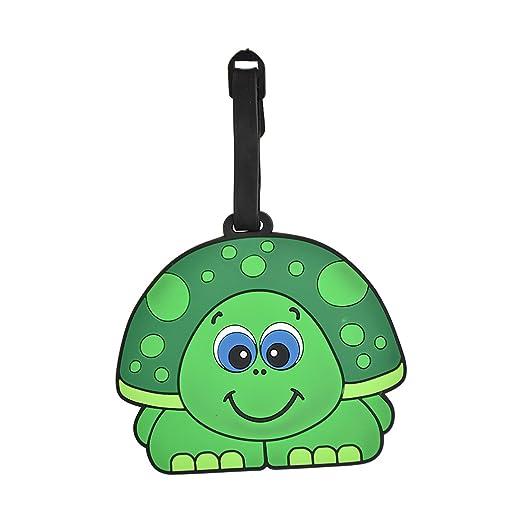 7977722f6ca0 Amazon.com | Animal Luggage Tag Cute Suitcase Label (Boy Turtle ...