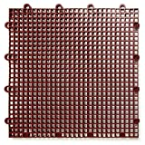 DuraGrid ST24BRIK Comfort Tile Interlocking Modular Multi-Use Safety Floor Matting (24 Pack), Brick Red, Piece