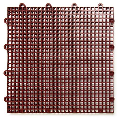 duragrid stbrik comodidad Modular multiusos seguridad de enclavamiento esteras, de una sola azulejos, ladrillo rojo