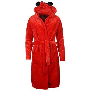 Women\'s Disney Minnie Mouse Red Dressing Gown Supersoft Housecoat ...
